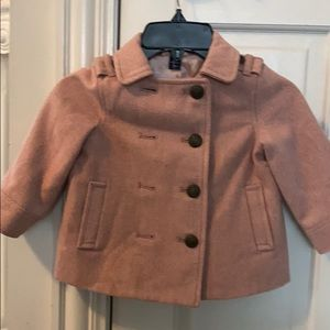 GAP pink tweed coat.  Excellent condition!